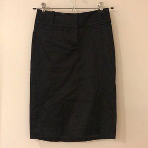 Bebe satin black pencil skirt